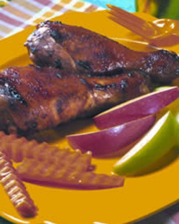 Apple-Glazed Chicken Drumsticks