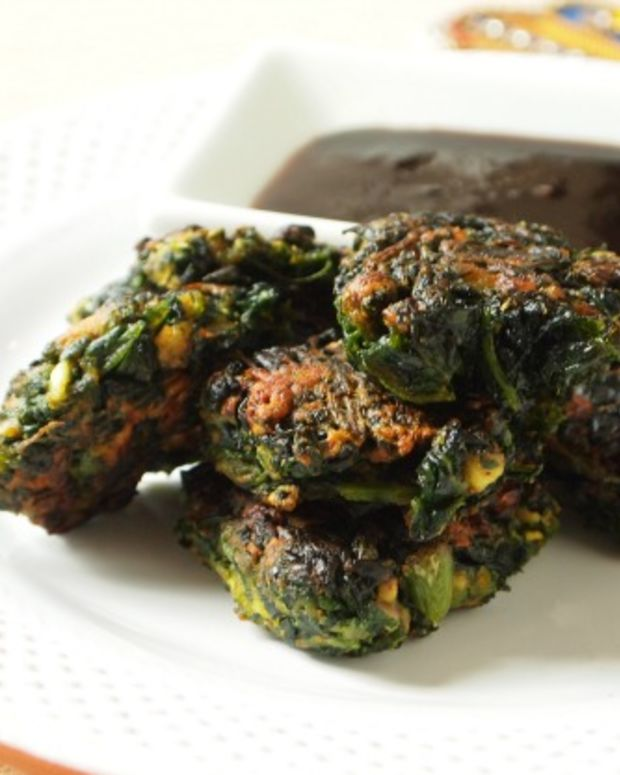 spinach pakora