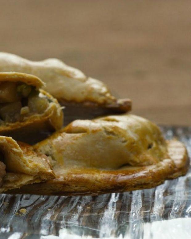 leftover turkey cornish pasty