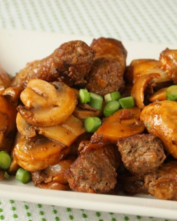 sauteed sausage and mushrooms