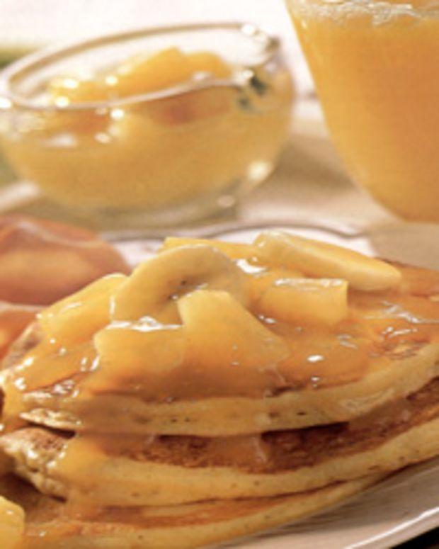 Orange Pancakes with Tropical Citrus Sauce