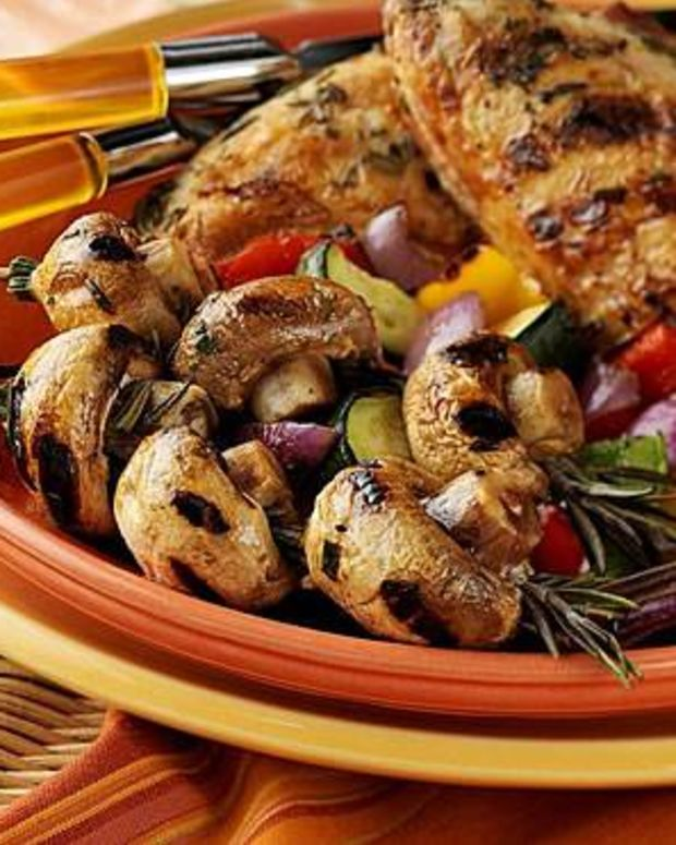 Rosemary Chicken and Mushrooms with Mixed Vegetables