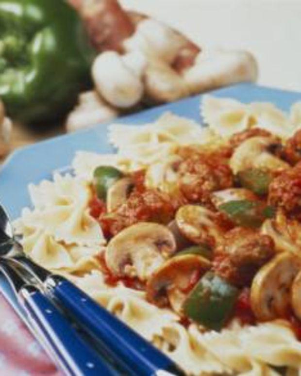 Speedy Mushroom and Sausage Pasta