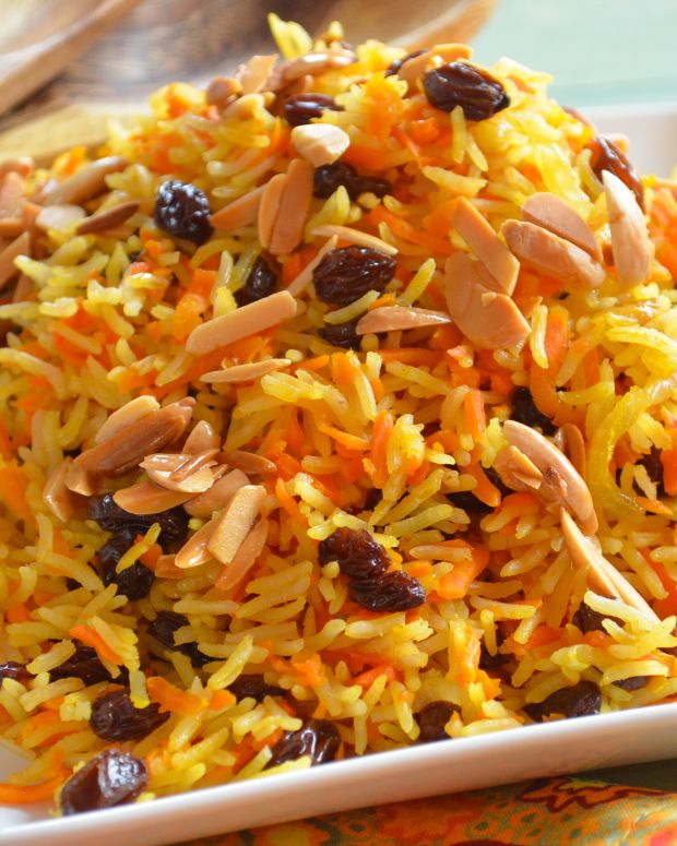 carrot and raisin basmati rice