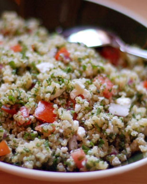 Green Onion Quinoa Tabbouleh