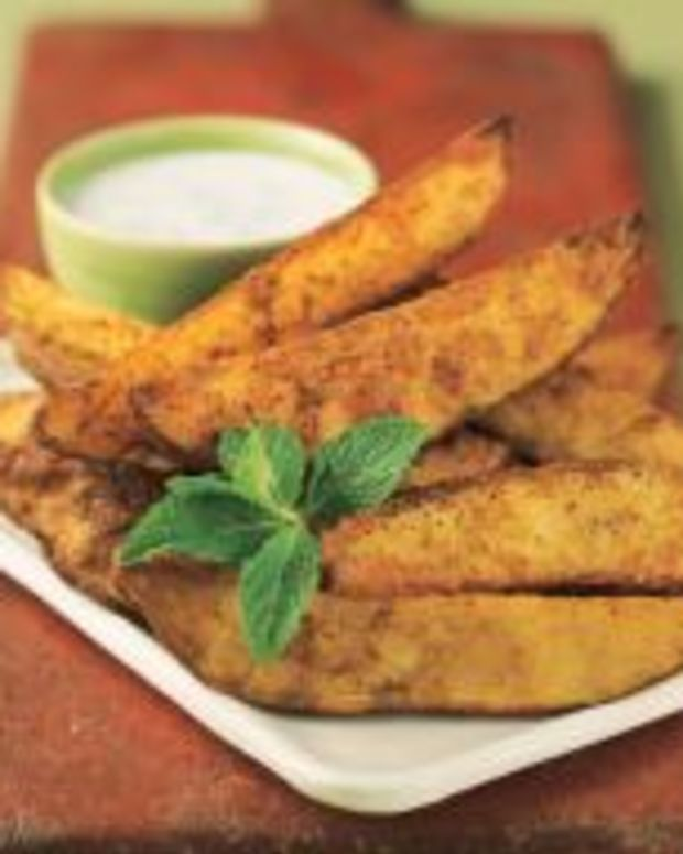 Curry Roasted Idaho® Potato Wedges with Raita