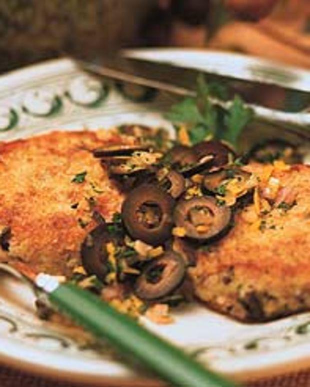 """Cod Cakes with California Ripe Olive """"Gremolata"""""""