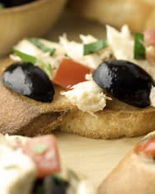 Olive Tuna Bruschetta