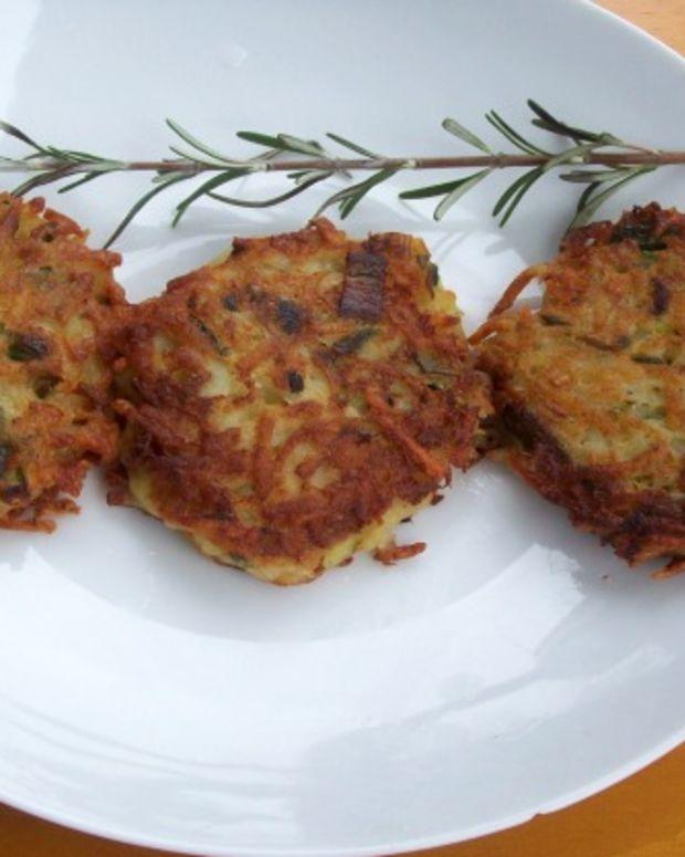 Rosemary-Mascarpone Potato Latkes