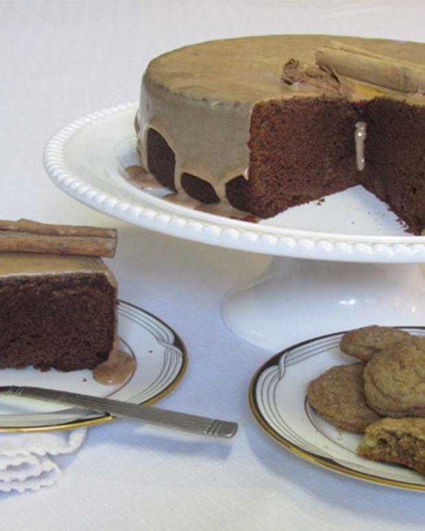 Cinnamon Chocolate Cake with Cinnamon Glaze