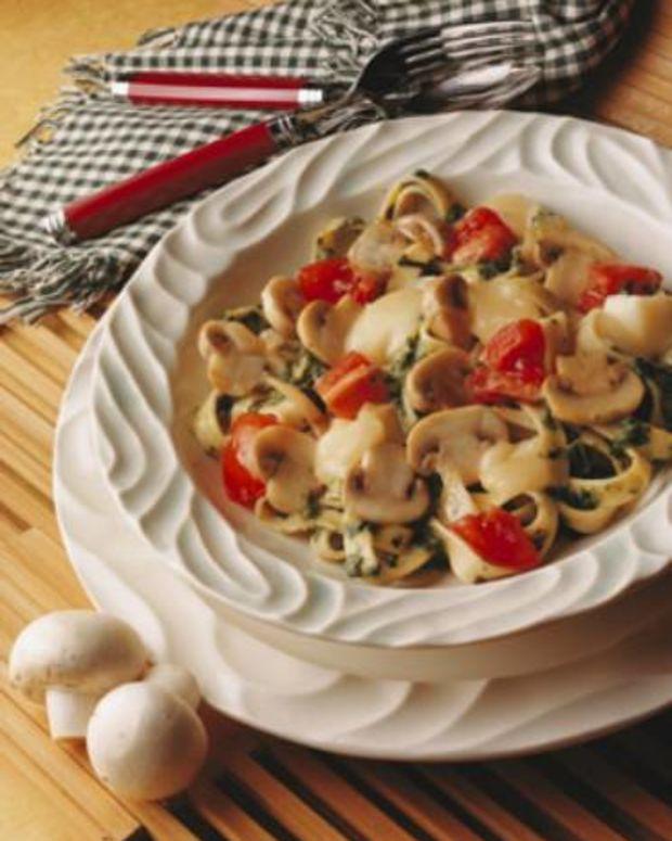 Mushroom Fettucine Florentine