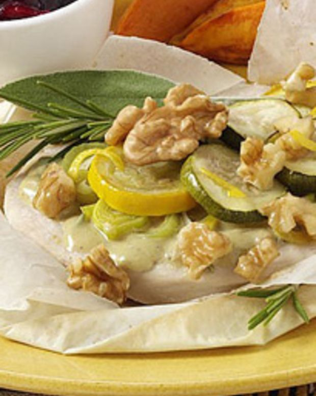 Turkey and Walnuts En Papillote