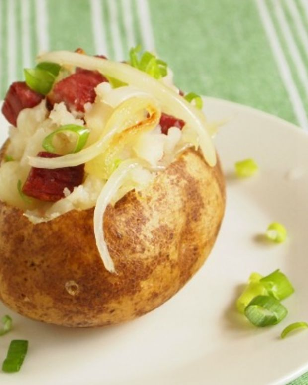 corned beef stuffed potato