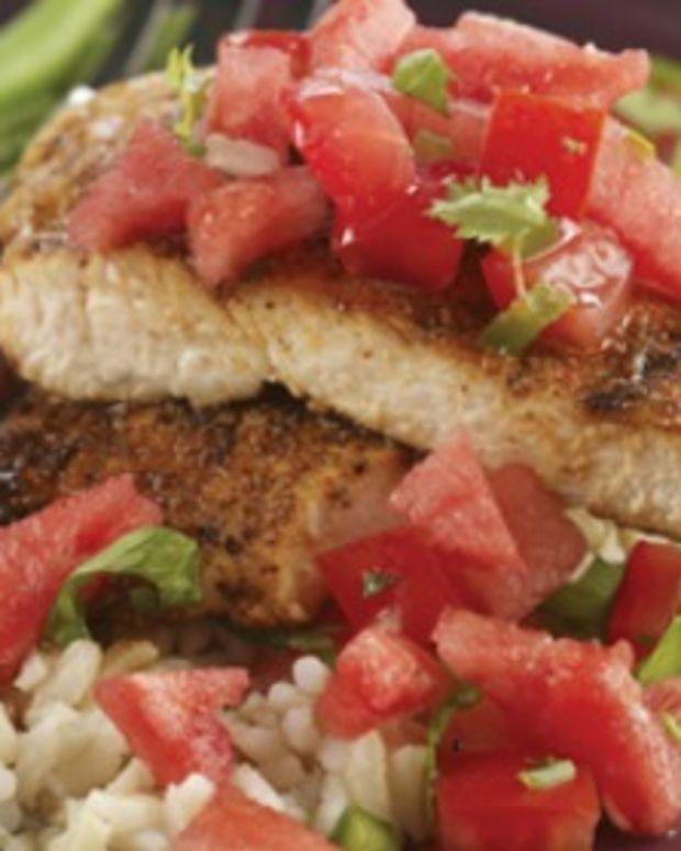 Cajun Chicken with Watermelon Mint Salsa