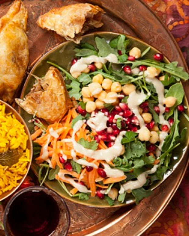 Arugula Salad with Tahini Vinaigrette
