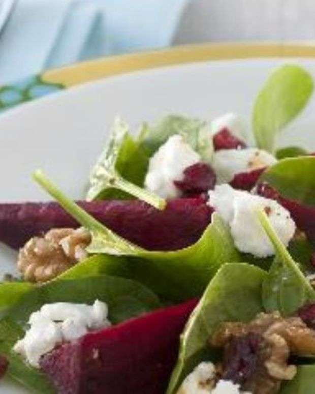 Beetroot and Cranberry Salad with Goat's Cheese