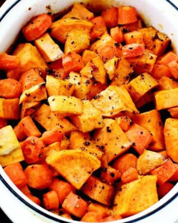 Sweet Potato and Carrot Bake