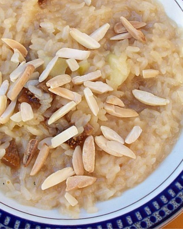 risotto with figs and almons