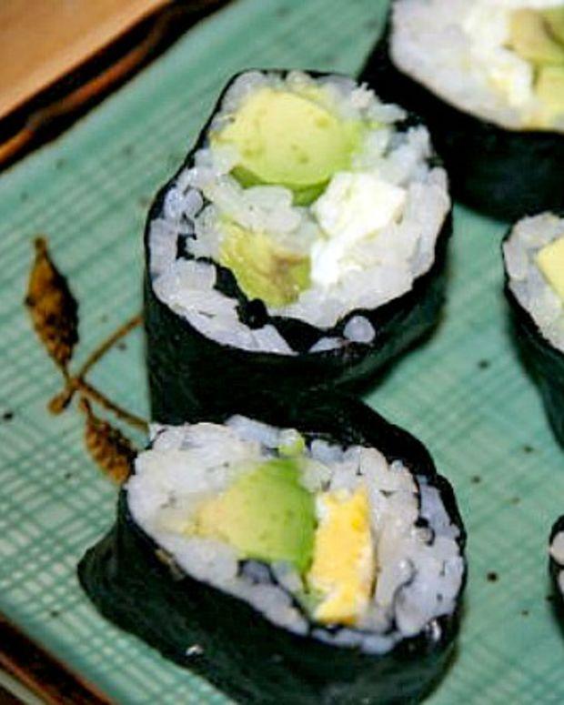 kids veggie sushi