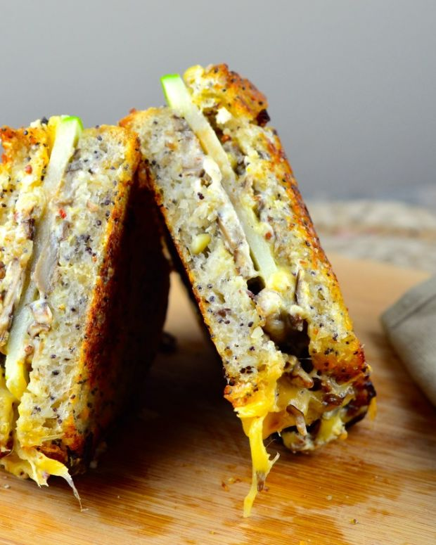 goat and gouda grilled cheese