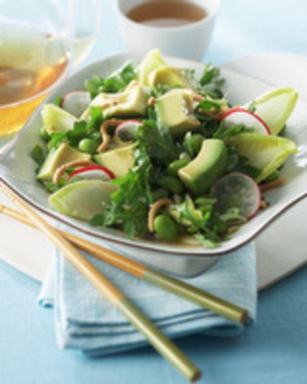 Avocado, Edamame and Radish Asian Salad