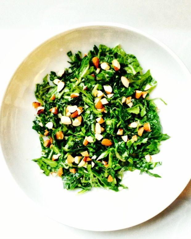 Shaved Mustard Green Salad