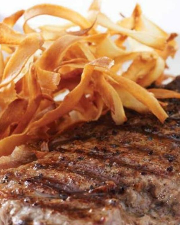 Grilled Ribeye with Crispy Parsnips
