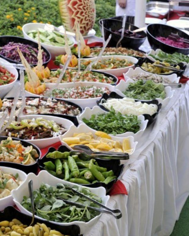 healthy eating at a resort