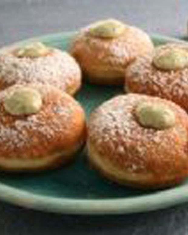 Creme Anglaise Basil Filled Donuts