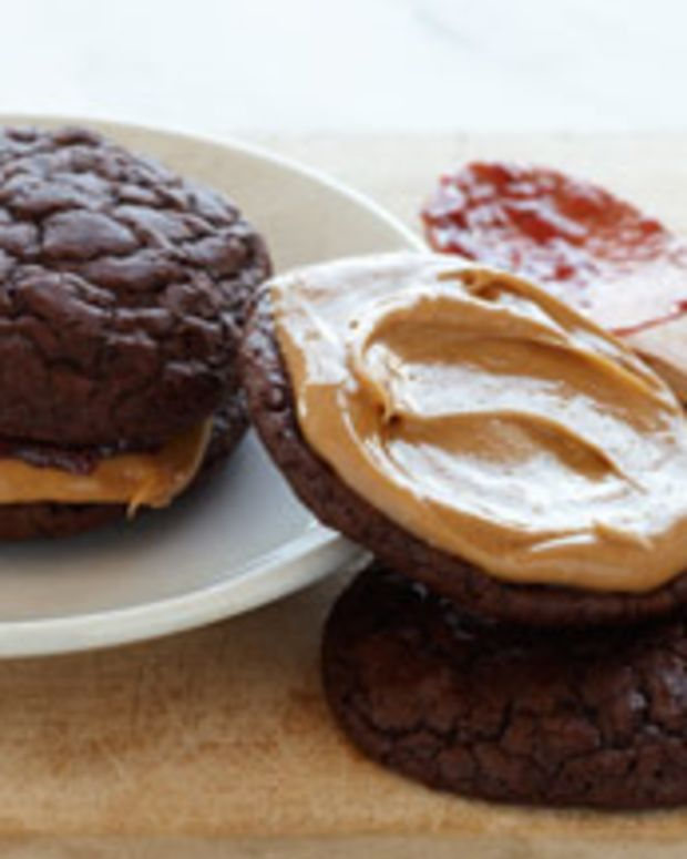 Chocolate Peanut Butter and Jelly Cookies