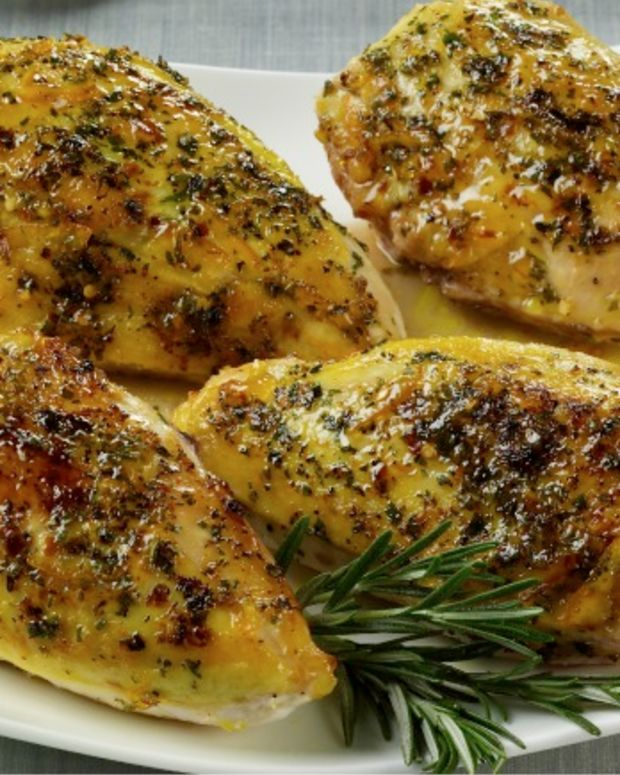 Orange Rosemary Glazed Chicken Breasts