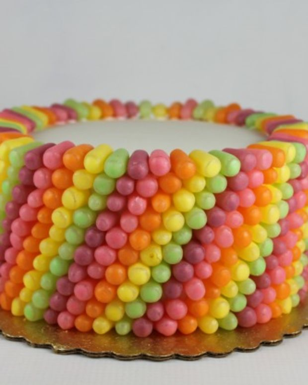 mike and ike decorated cake