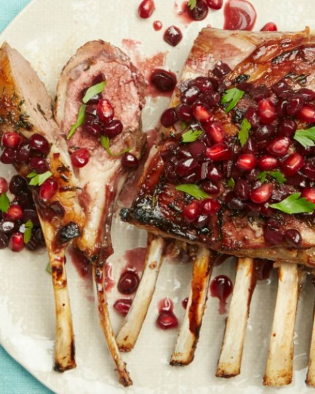 Slow Roasted Lamb With Pomegranate and Reduced