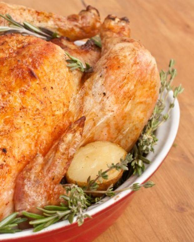 Honey Glazed Roasted Turkey with Butternut-Shitake Stuffing