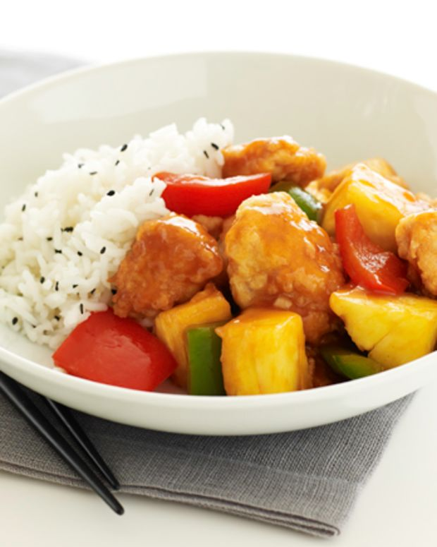 Sweet and Sour Chicken with Sesame Rice