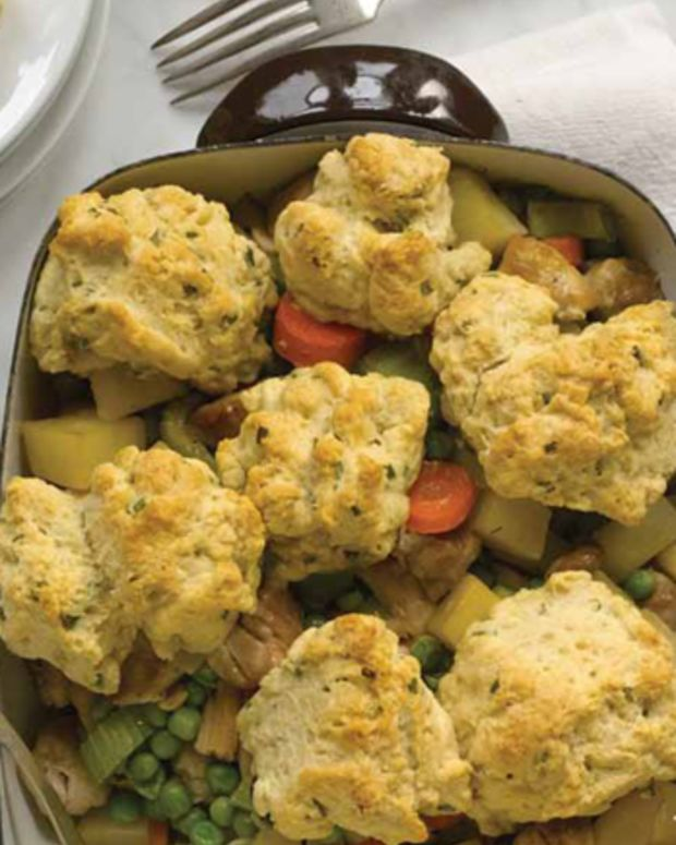 Chicken Pot Pie with Herbed Drop Biscuits