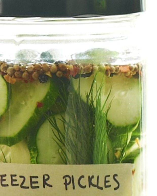22- Sweet Freezer Pickles with Dill