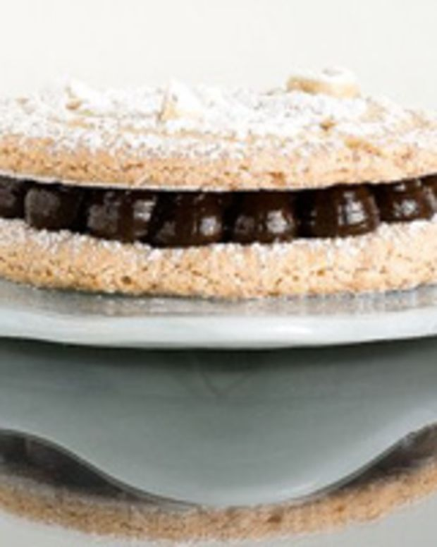 Nutty Dacquoise with Chocolate Ganache