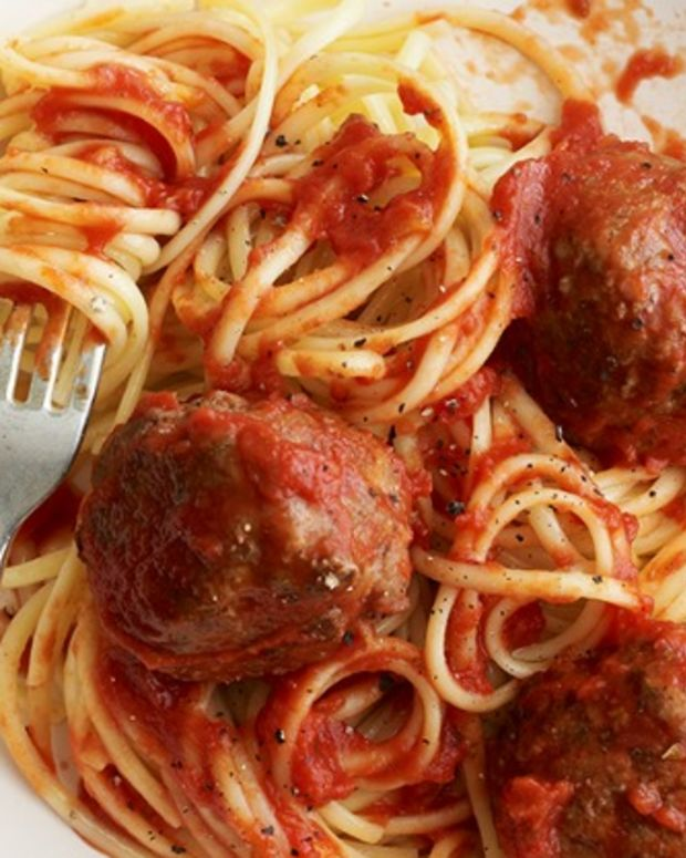 VEAL SPAGHETTI AND MEATBALLS