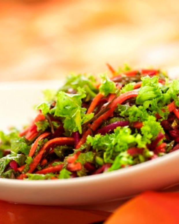 Beet, Kale and Seaweed Salad
