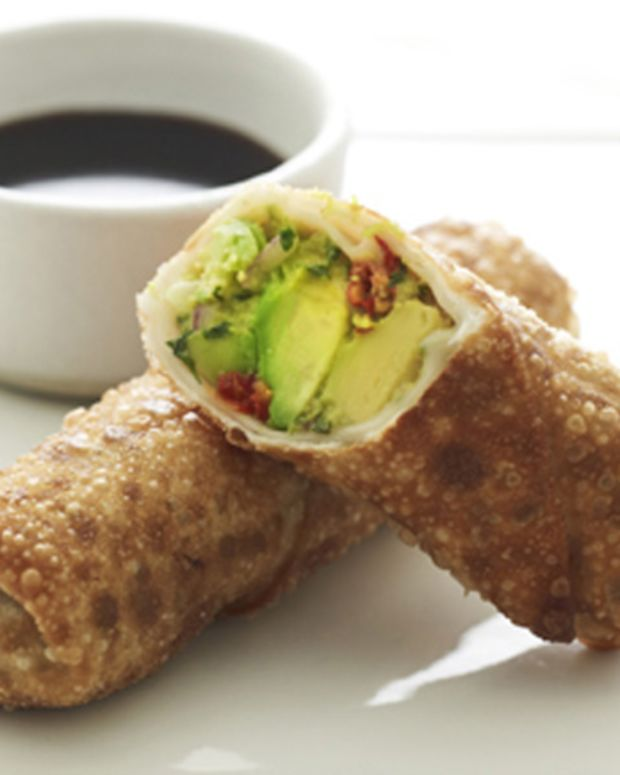 Avocado Egg Rolls with Spicy Dipping Sauce