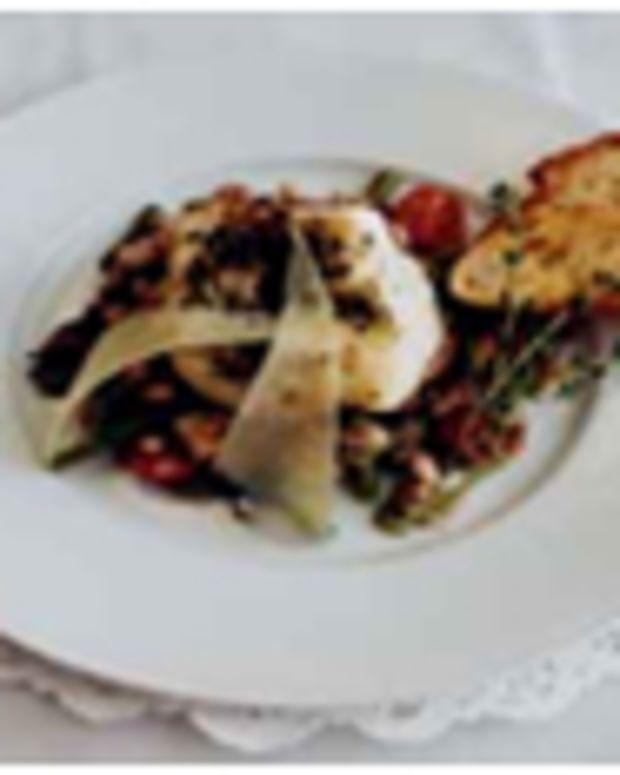 Sauteed Sea Bass with Mediterranean Bean Salad