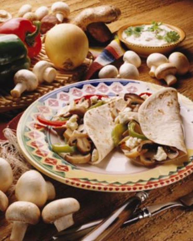 Grilled Mushrooms and Pepper Fajitas