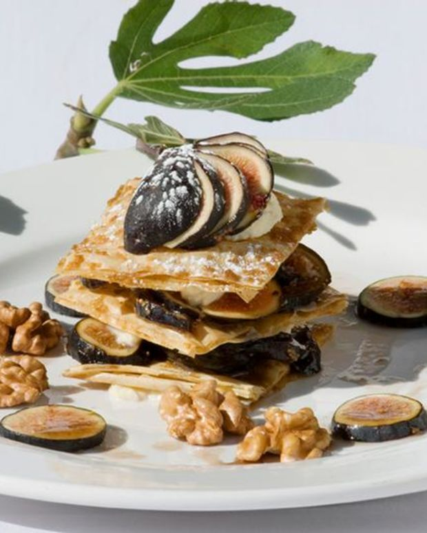 Walnut and Fig Napoleon
