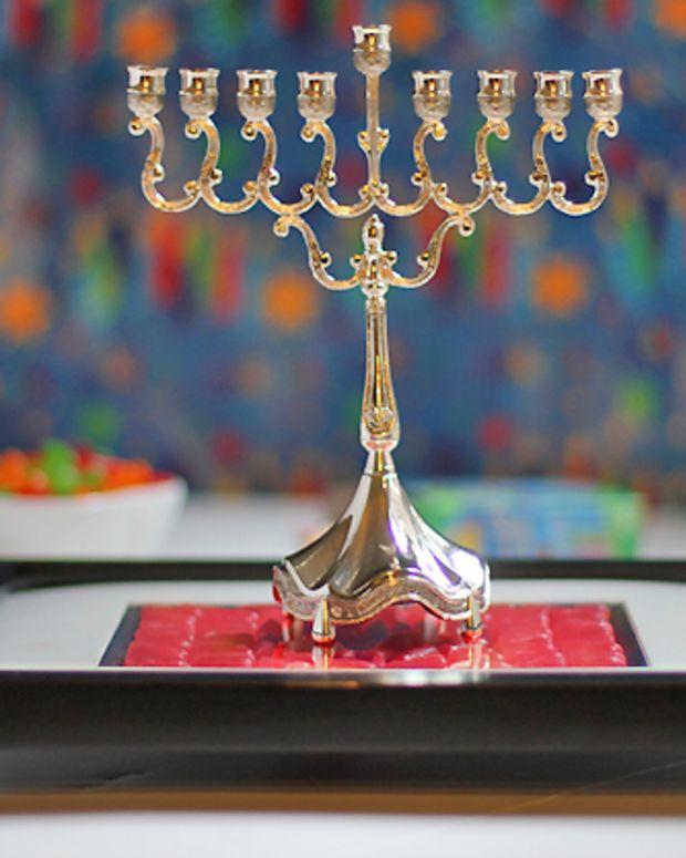 Hanukkah Candy Mosaic Tray