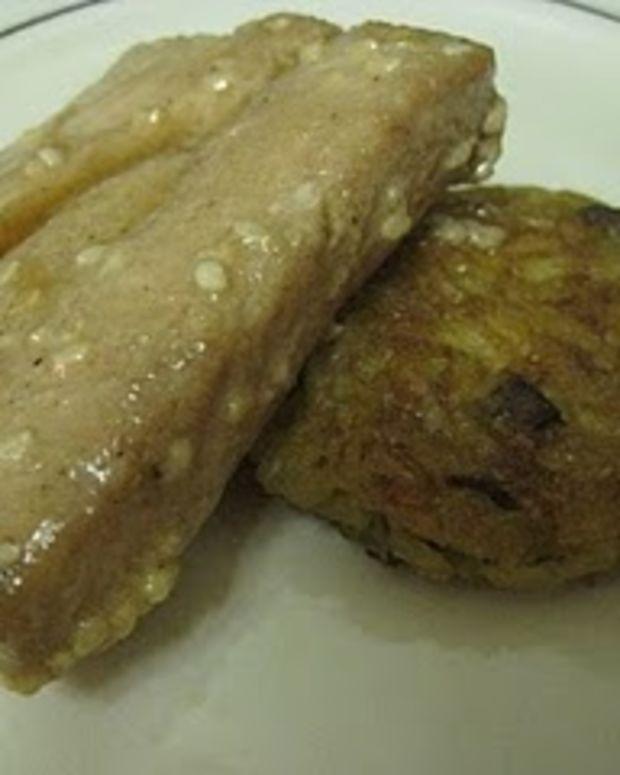 Sesame-Soy Salmon w/ Crispy Brown Rice Cake