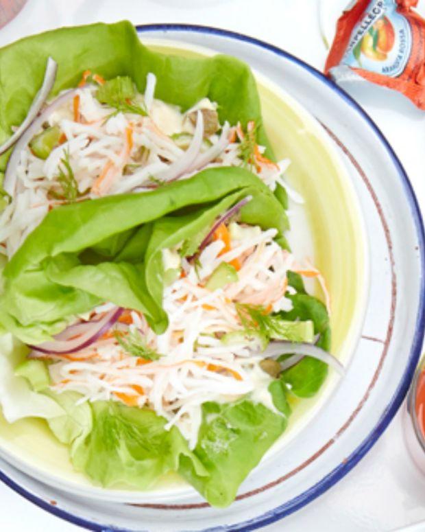 Mock Crab Salad Wraps