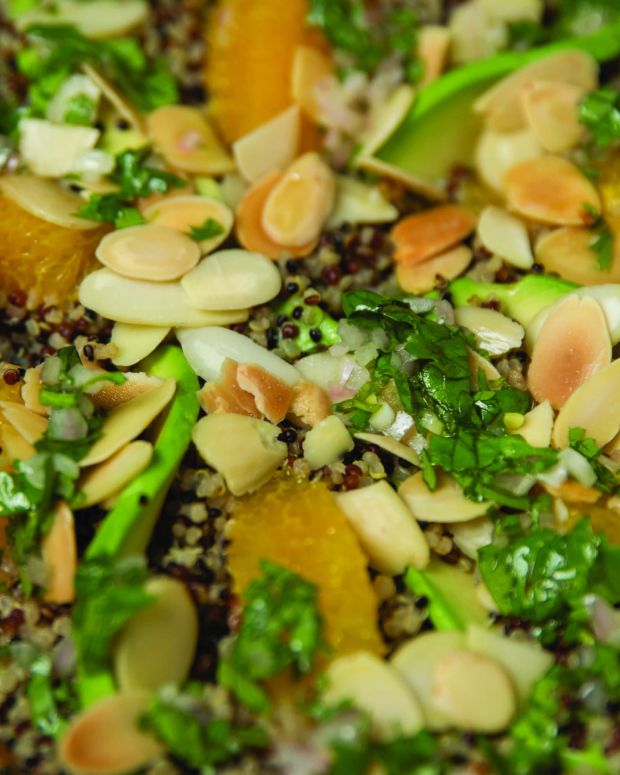 Quinoa Salad with Avocado, Orange, and Toasted Almonds