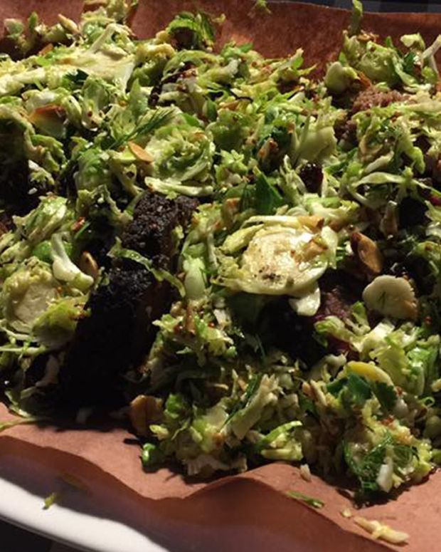 Brussels Sprout Salad with Mustard and Toasted Almonds
