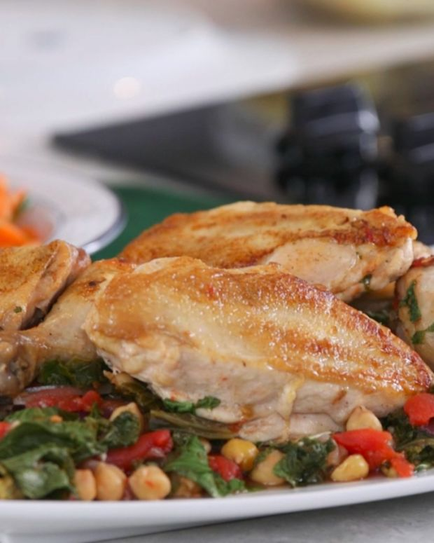 Braised Chicken with Chickpeas
